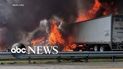 Death toll rises after fiery crash on Florida highway