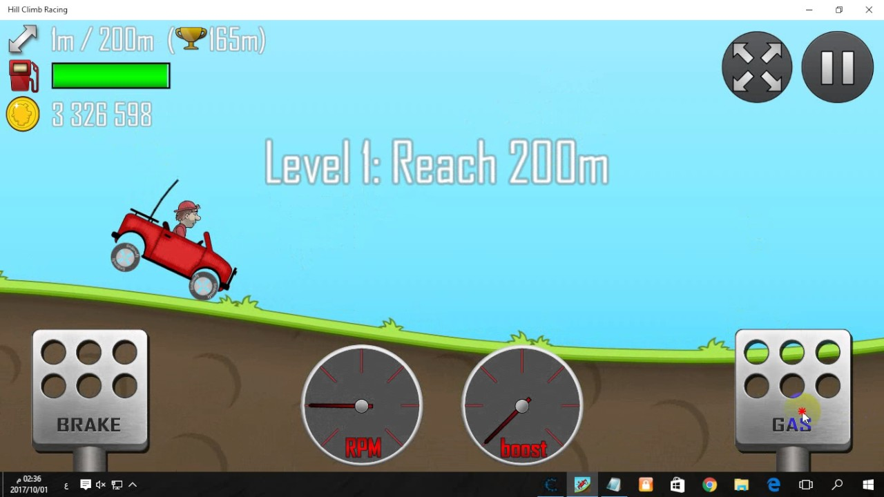 لعبة hill climb racing للكمبيوتر