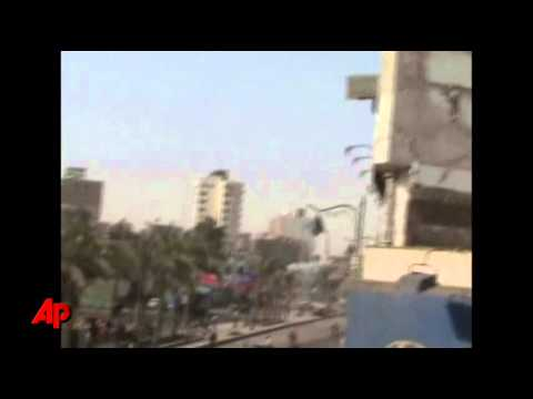 Raw Video: Man Shot in Egypt Protest
