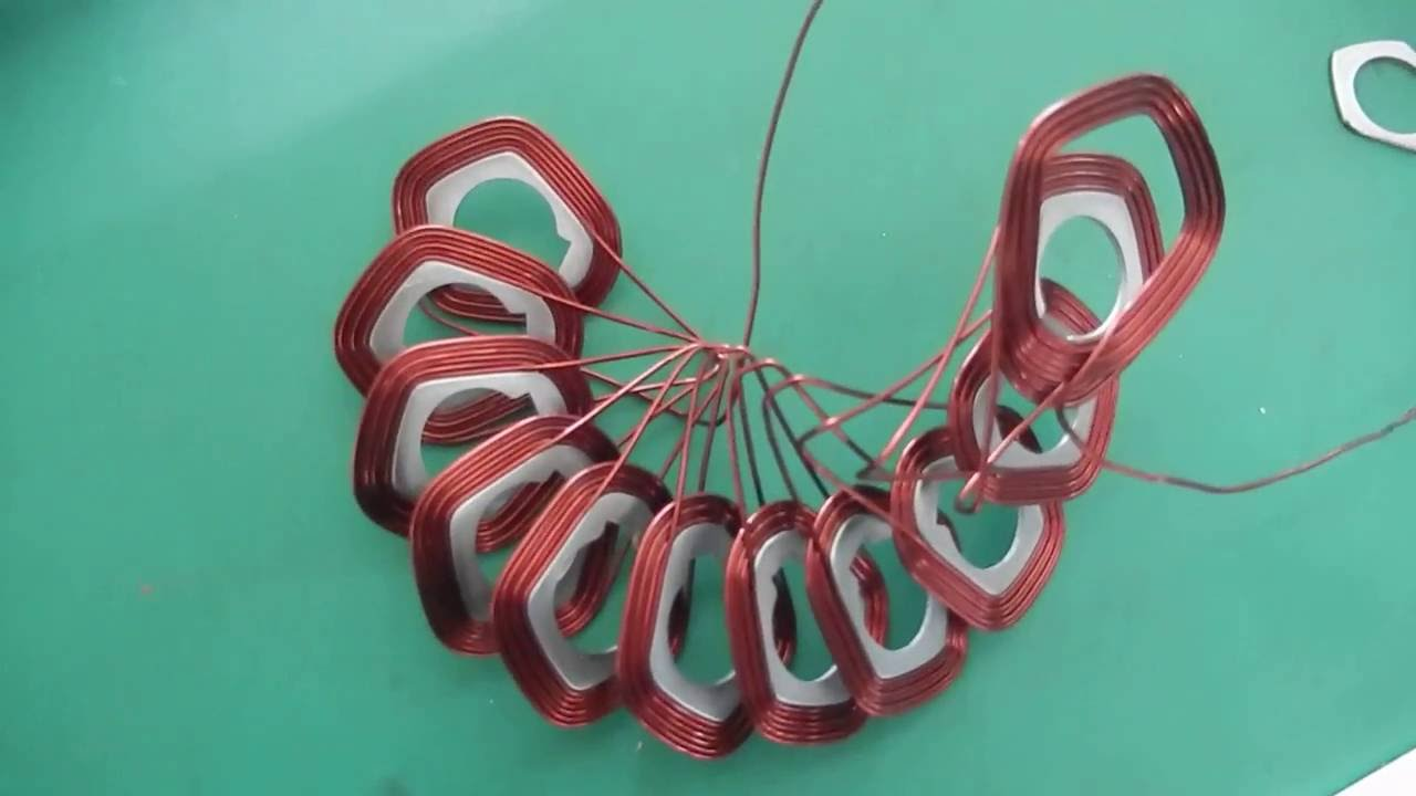Stator coil winding machine for disc type motor - YouTube