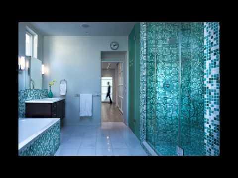 Бирюзовая мозаика для ванной