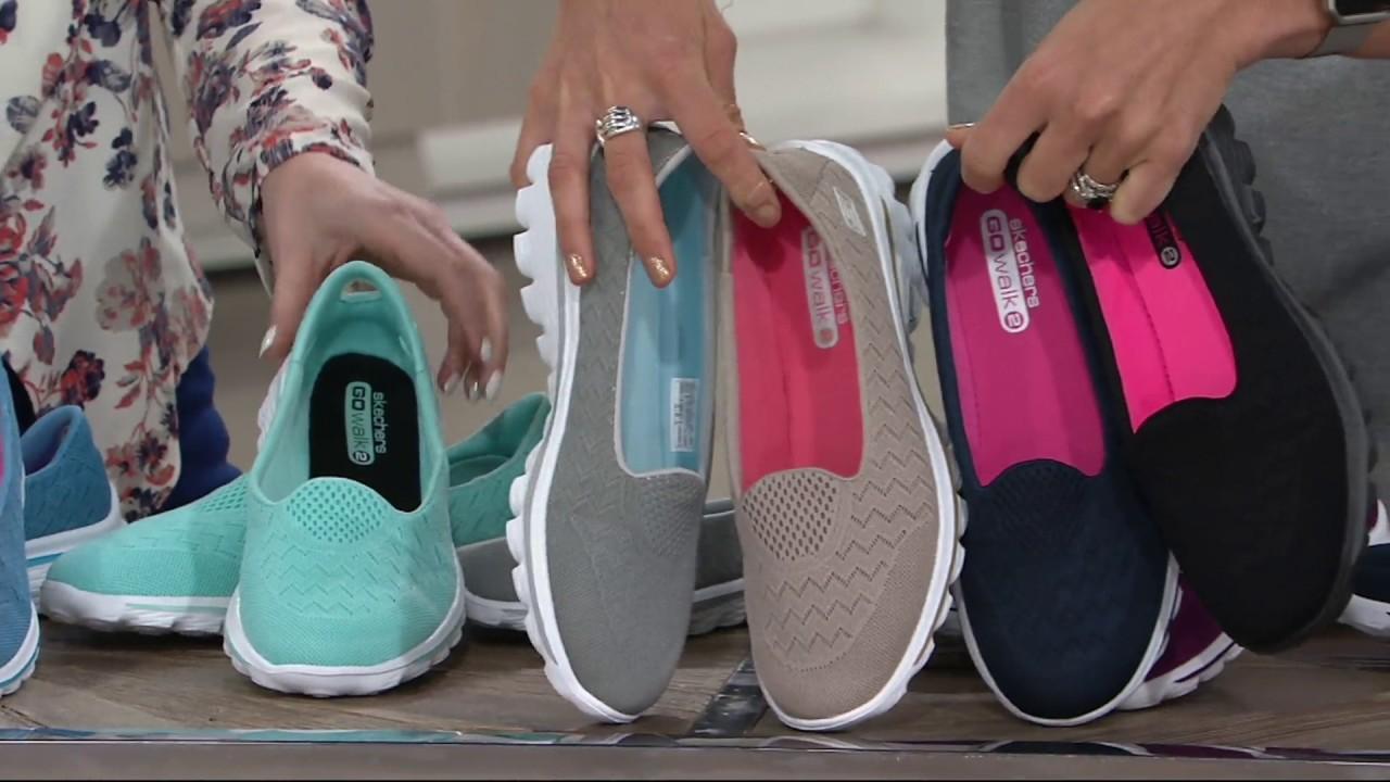 Original Ruf zuerst 100% authentifiziert Skechers GOwalk 2 Mesh Lightweight Slip-on Shoes - Axis on QVC
