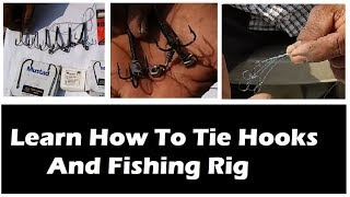 LEARN HOW TO TIE FISHING HOOK AND FISHING RIG, BUNCH HOOK RIG, GUCHA DORRA, GAL, DORA