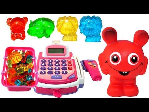 Babblarna i godisaffären - Lär dig färger för barn med godis på svenska - Lek och lär med Babblarna