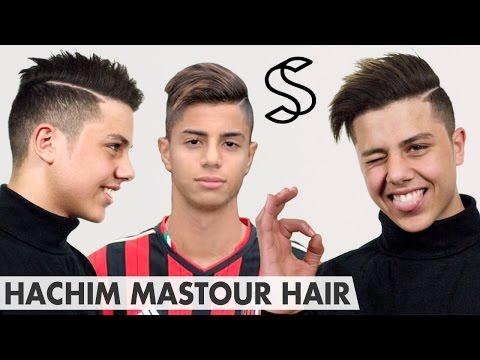 Hachim Mastour Hairstyle ★ Undercut with long top & line-up ★ Men's hair