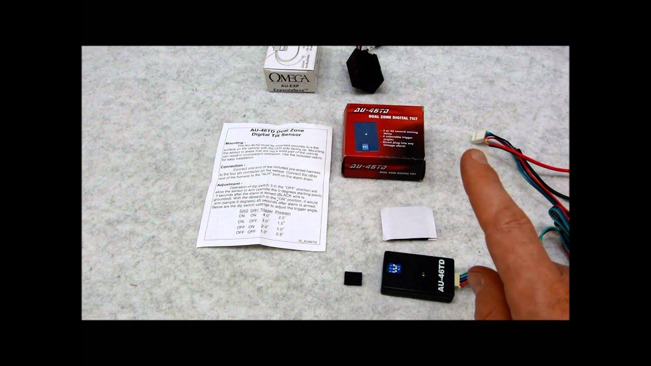AU-46TD Digital Tilt Car Alarm Sensor Review - YouTube