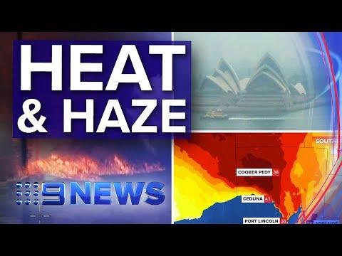 Sydney smoke warning, Adelaide heat wave | Nine News Australia