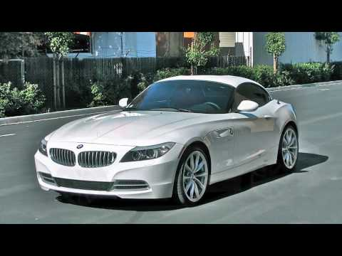 2010 BMW Z4 sDrive35i Alpine White on Coral Red - YouTube
