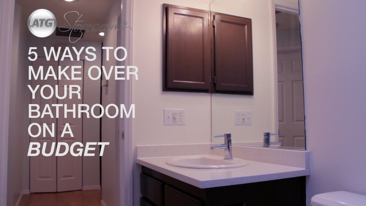 5 Ways To Make Over Your Bathroom On A Budget Youtube