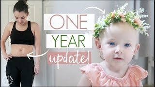 1 YEAR Baby + Postpartum UPDATE! | Belly Shot Update | Natalie Bennett