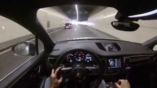 POV - Porsche Macan S - PSE sound - Cruising through tunnel