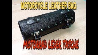 MOTORCYCLE LEATHER BAG / MOTORRAD LEDER TASCHE #1