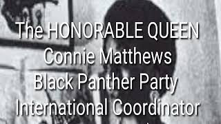Revolutionary African Females: Connie Matthews Black Panther Party International Coordinator