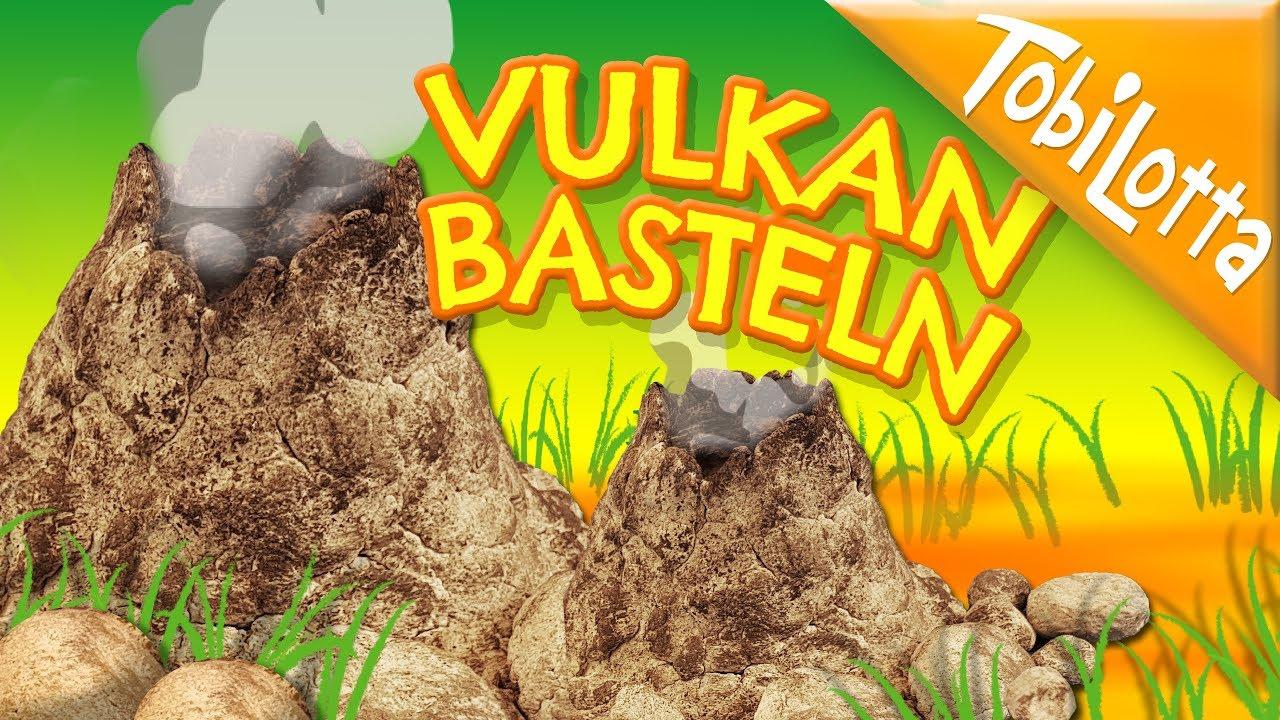 Mini Vulkan Basteln Vulkan Diy Dinosaurier Basteln Urzeit