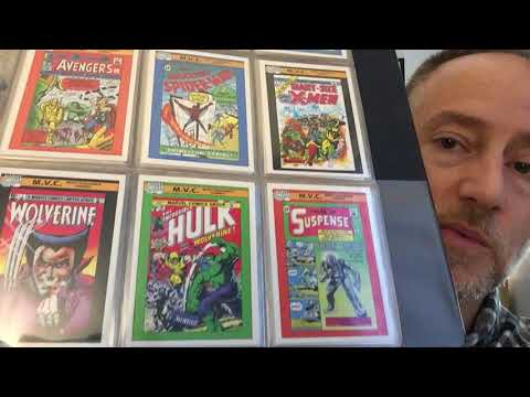 Marvel Cards and The Official Handbook of the Marvel Universe