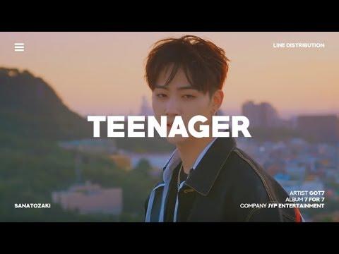GOT7 (갓세븐) - Teenager | Line Distribution