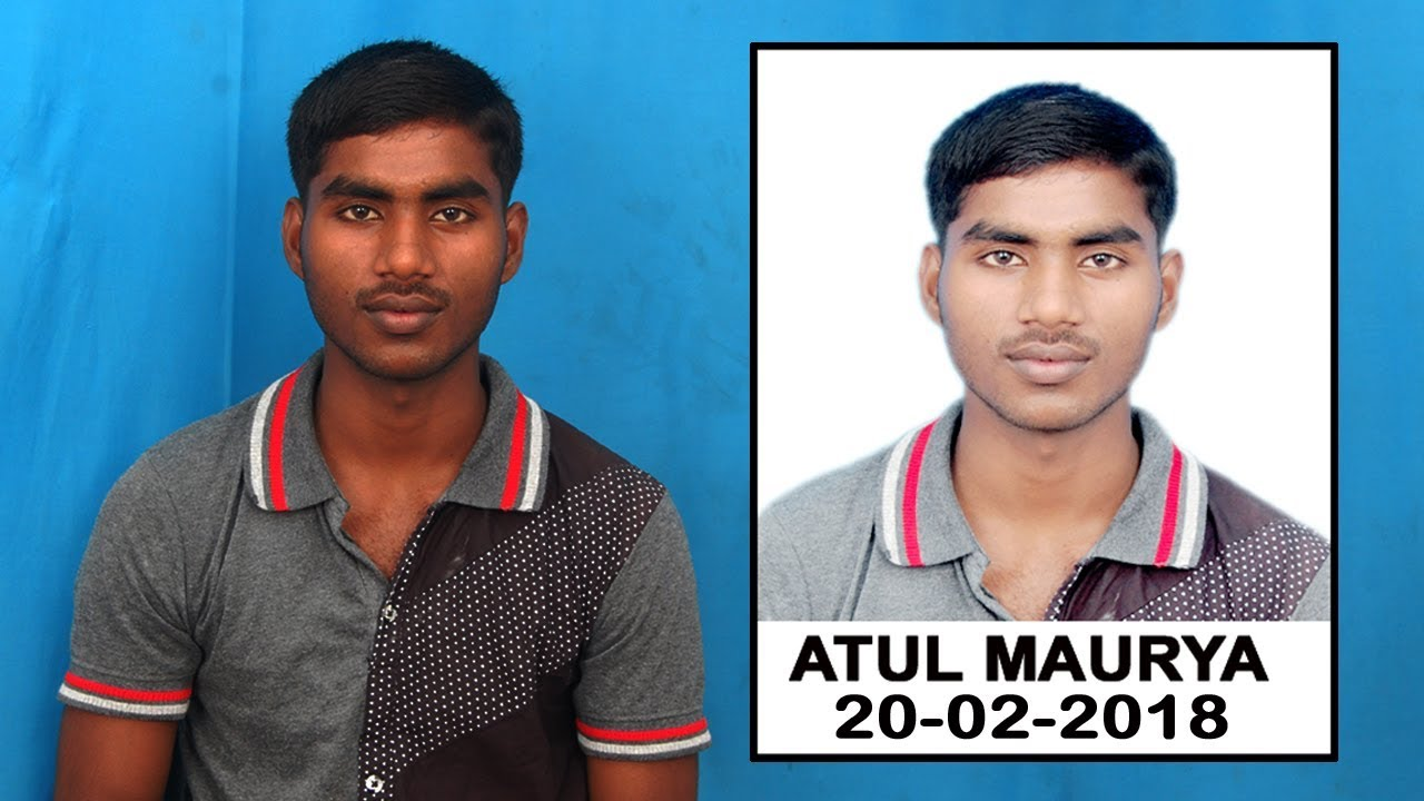 Create Passport Size Photo with Name and Date