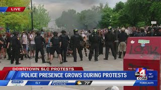 BREAKING NEWS: Downtown SLC protests turn violent and destructive (Part 1)