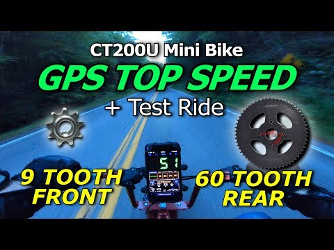 CT200U GPS Top Speed Run and Test Ride - 9 Tooth/ 60 Tooth [4K]