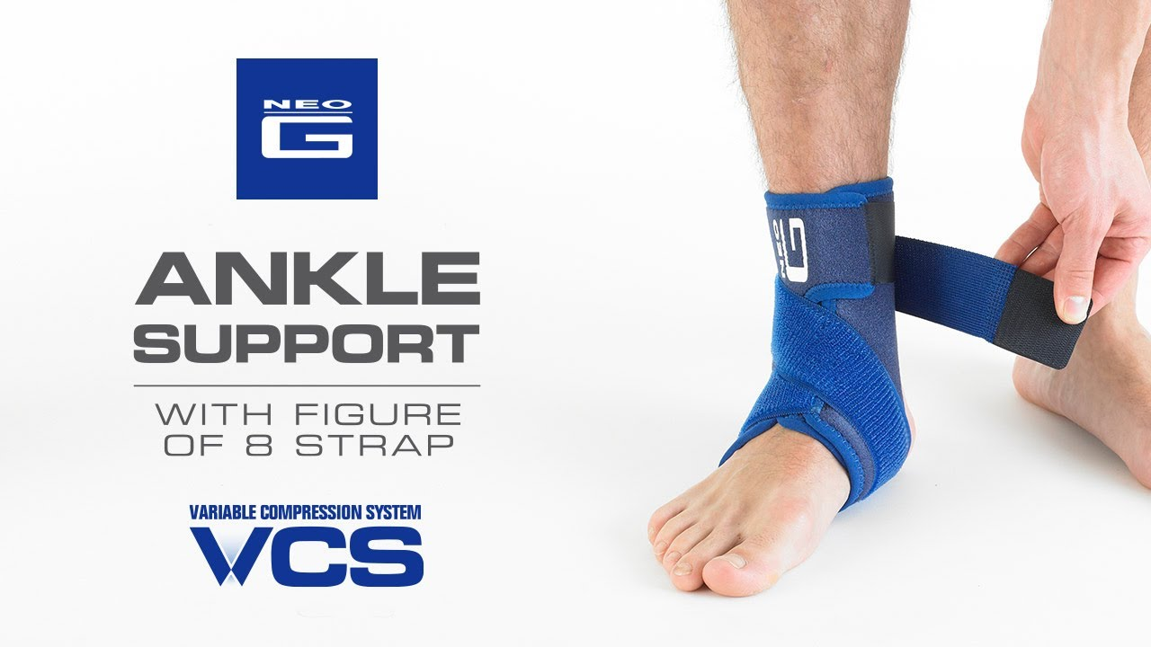0709f9f609 Neo G Ankle Support with Figure of 8 Strap // How to Apply Guide ...