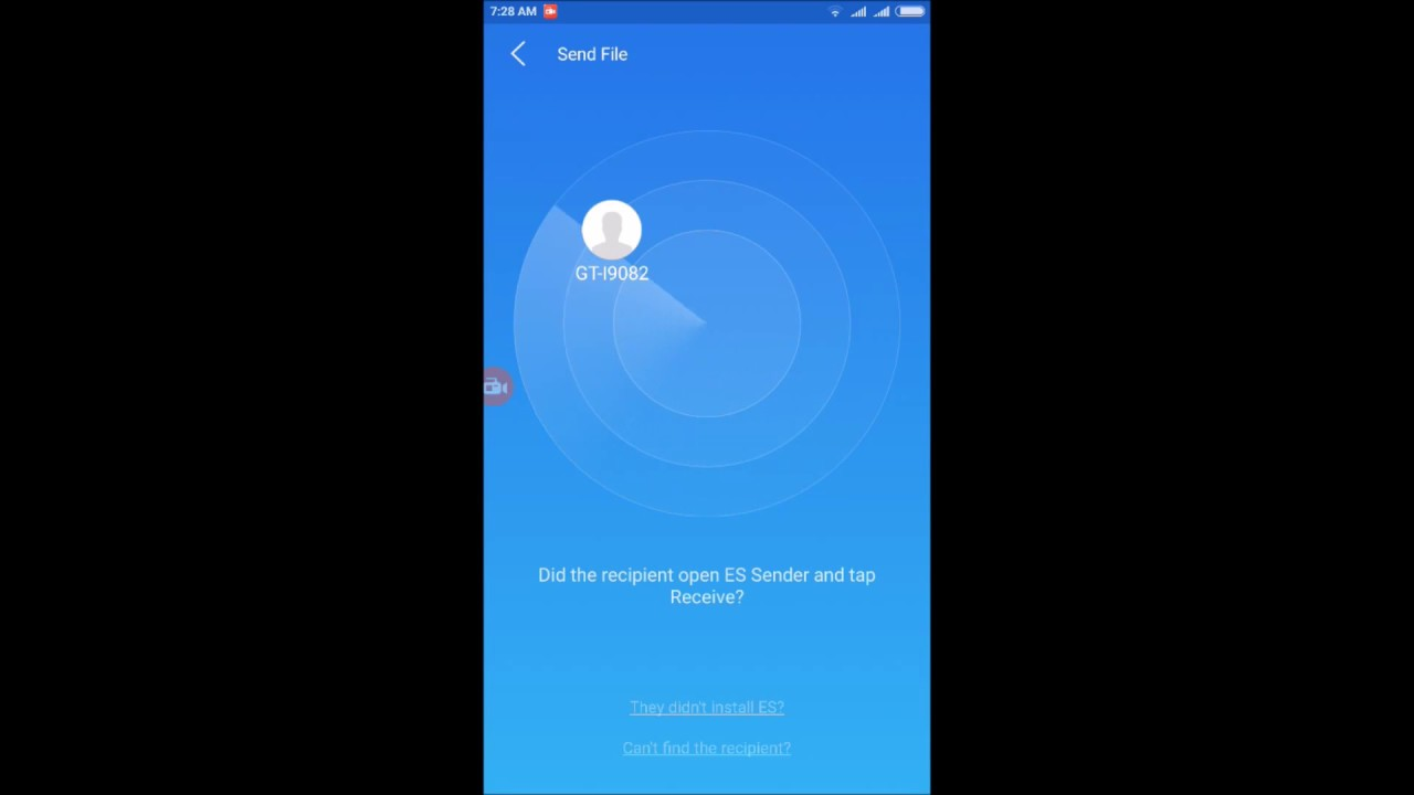 Es File Explorer - Sender: transfer file Android to Android through Wifi