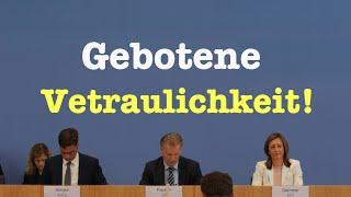 Gebotene Vertraulichkeit! - Interessante Bundespressekonferenz vom 16. September 2016