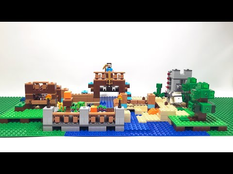 【おうちであそぼう】LEGO MINECRAFT 21135 クラフトボックス2.0をつくってみた