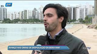 Obras de depoluição da Beira-Mar Norte, em Florianópolis, c…