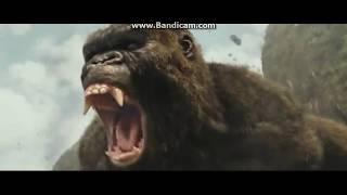 Конг: Остров черепа(Конг против 2 черепозавров)