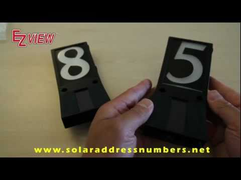EZ View Solar Powered Address Numbers Activation Instructions