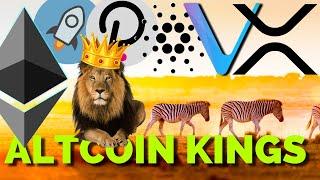 Altcoin ROYALTY: XRP, Stellar XLM, Cardano ADA, VeChain VET, Ethereum ETH, Polkadot DOT