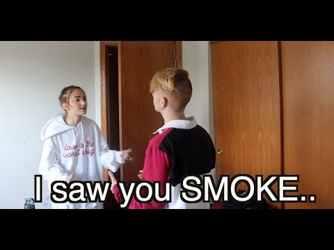 I SAW YOU SMOKE..  (Prank on my sister after giving her $10,000 to stop!)