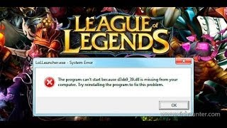 Cómo solucionar el error d3dx9_39.dll al ejecutar LOL (league of legends) u otro programa WIN10,8,7