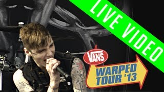 black veil brides shadows die live vans warped tour 2013
