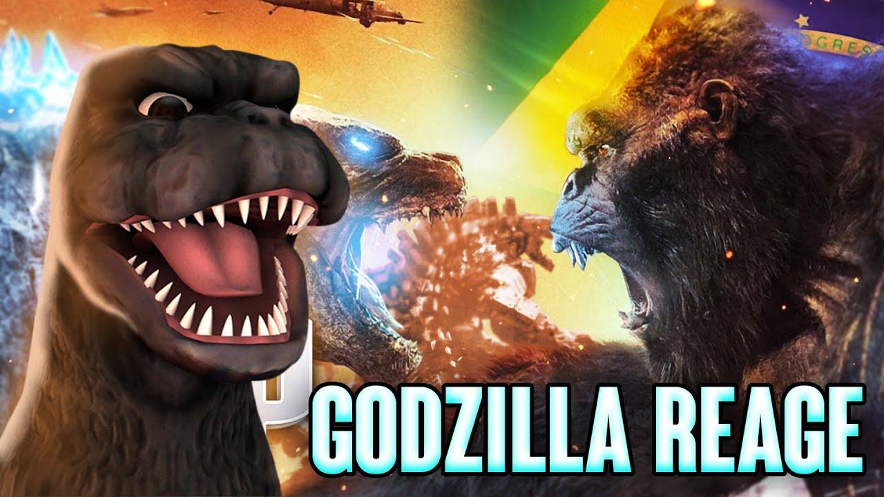 GODZILLA REAGE - Rap do Godzilla vs Kong - NÃO ME CURVO PRA NINGUÉM (Godzilla) Dublado PT/BR 