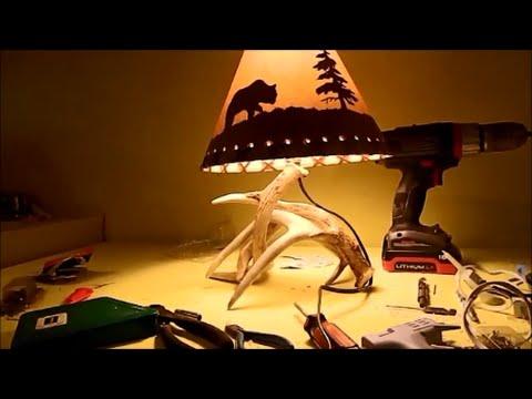 antler lamp diy youtube