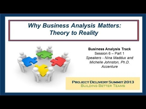 Why Business Analysis Matters: Why is the Business Analyst Important? (Part One)  - A PSP Forum