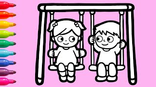 A Boy and a Girl on Swing | Dr…