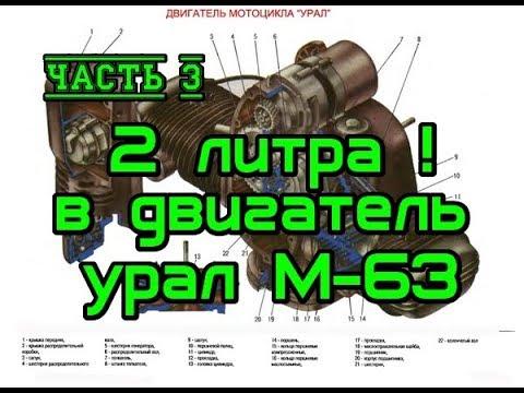 Часть 3. Увеличиваем обьем двигателя Урал до 2 литров. Модернизация двигателя Урал 650 М63 70г.в.
