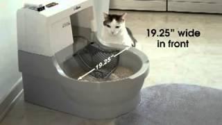 Автоматический туалет для кошек CatGenie. Размер и установка.
