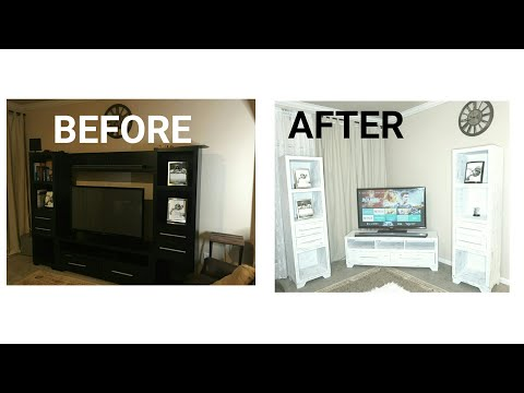 Entertainment center makeover || DIY