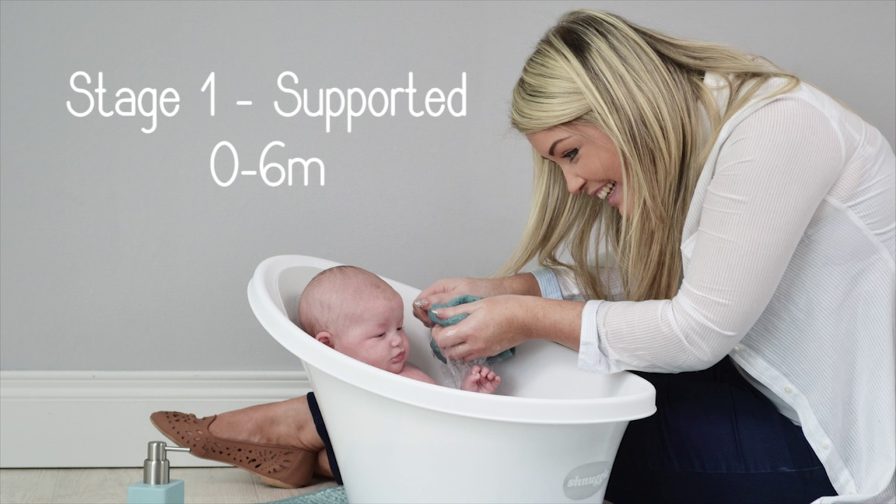 Infant Bath Time Products Shnuggle Baby Bath Video