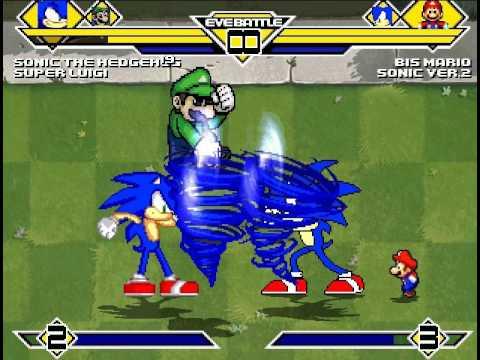Sonic(Me!) & Super Luigi's requested MUGEN SURVIVAL!!