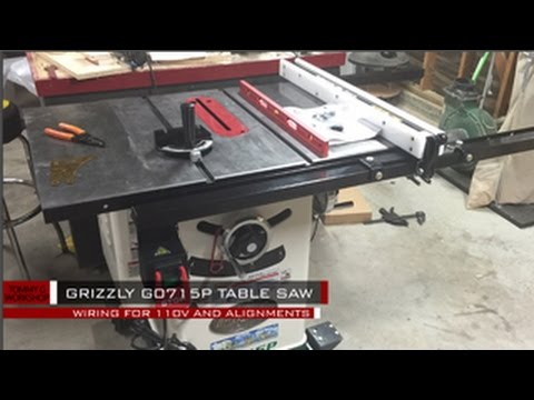 Grizzly g0715p table saw wiring and alignment youtube greentooth Choice Image