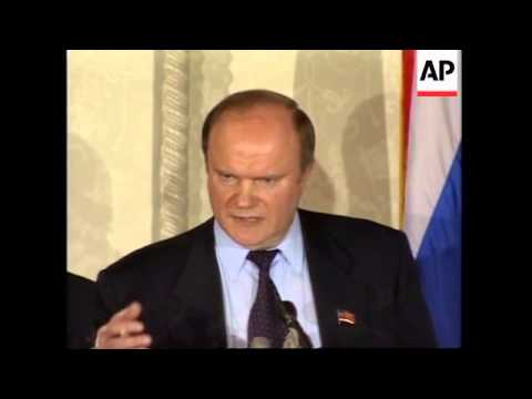 USA: GENNADAY ZYUGANOV MAKES SPEECH AT RUSSIAN BUSINESS FORUM