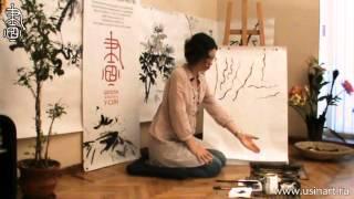 """Уроки по китайской живописи дикая орхидеи 兰花 Урок 7 """"Елена Касьяненко  цветы и стебель"""""""