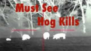 Thermal Hog Hunting, Watch em Tumble
