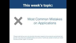 Most Common Mistakes on Applications