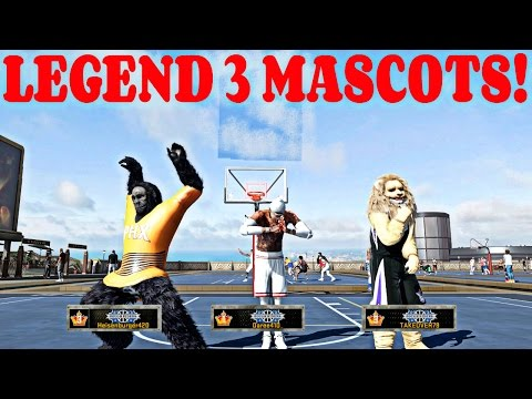 NBA 2k16 MyPark - LEGEND 3 MASCOTS GET BEAT BY ALL STAR 2