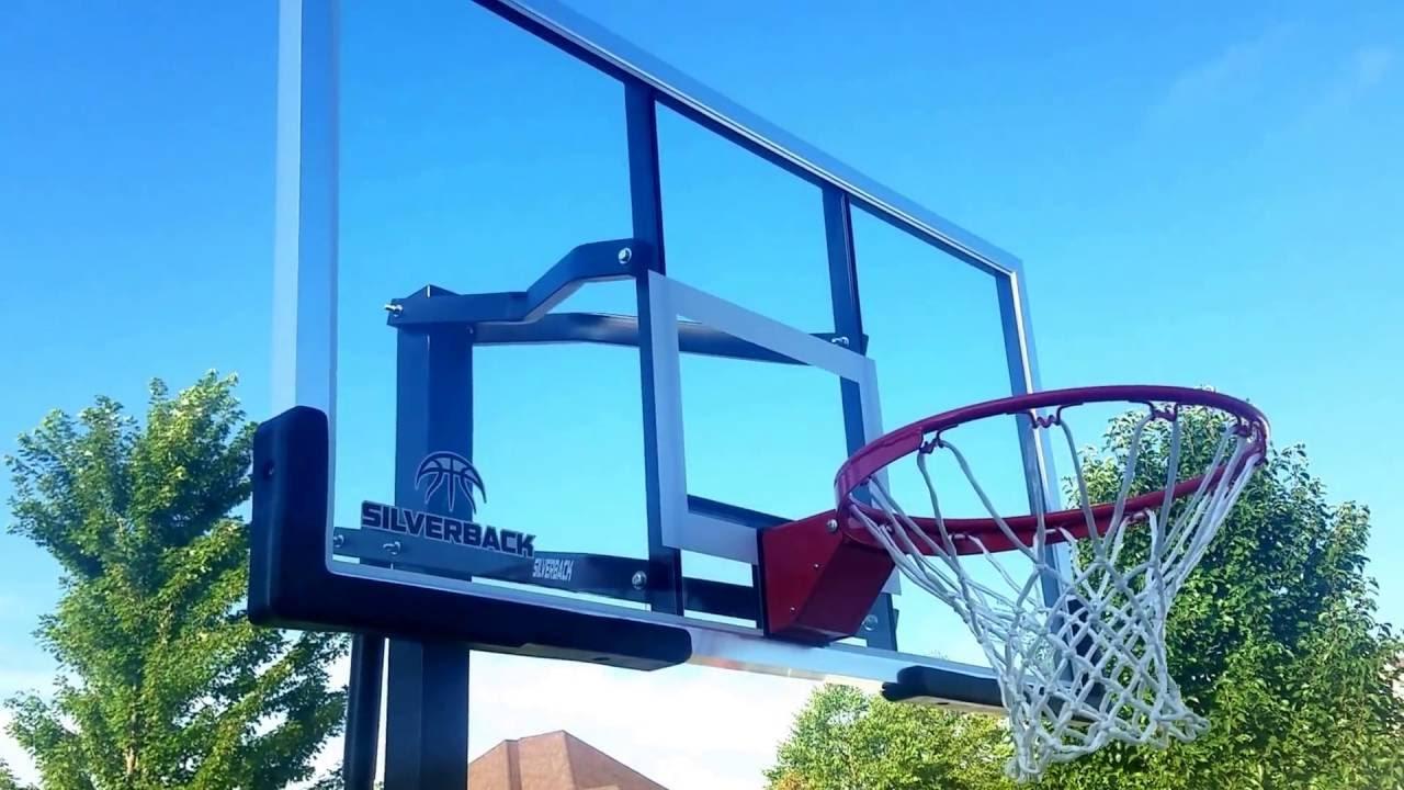 silverback adjustable inground basketball hoop - In Ground Basketball Hoop